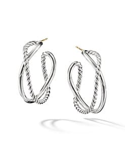 David Yurman - Cable Accented Hoop Earrings
