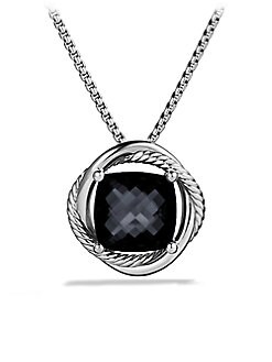David Yurman - Black Onyx Accented Sterling Silver Pendant Necklace