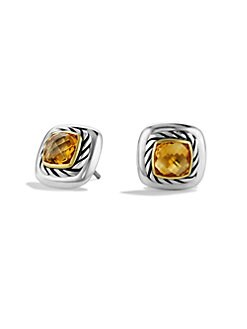 David Yurman - Citrine, 18K Gold & Sterling Silver Button Earring