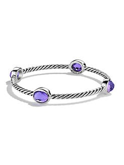 David Yurman - Amethyst and Sterling Silver Cable Bracelet