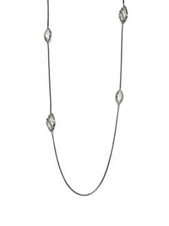David Yurman - Prasiolite & Sterling Silver Station Necklace