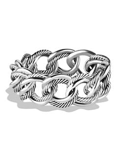 David Yurman - Double Link Chain Sterling Silver Bracelet