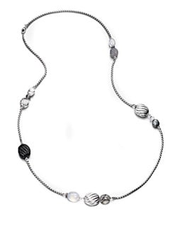 David Yurman - Semi-Precious Multi-Stone Sterling Silver Station Necklace