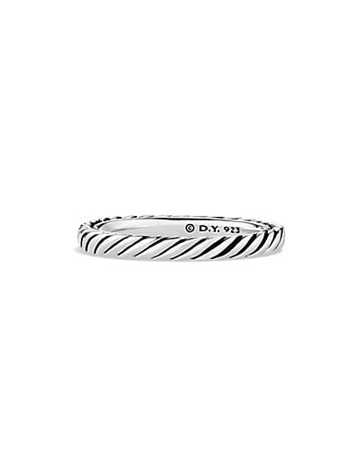 Sterling Silver Cable Stackable Ring