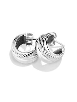 David Yurman - Sterling Silver Small Huggie Earrings