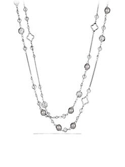David Yurman - Sterling Silver Long Station Necklace