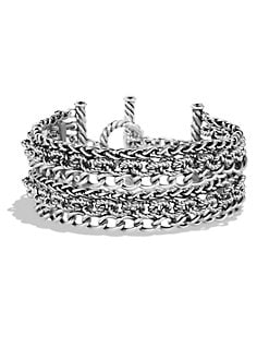 David Yurman - Multi-Row Sterling Silver Chain Link Bracelet