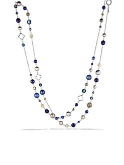 David Yurman - 18K Gold & Semi-Precious Multi-Stone Station Necklace/Blues