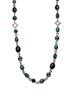 David Yurman - Semi-Precious Multi-Stone Link Necklace