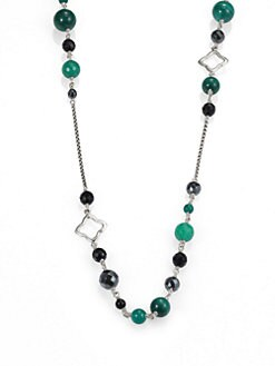 David Yurman - Semi-Precious Multi-Stone & Sterling Silver Station Necklace