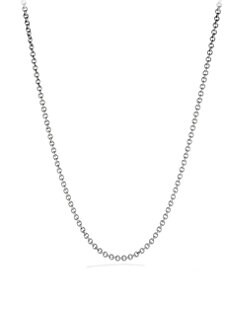 David Yurman - Sterling Silver Rolo Chain Necklace