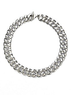 David Yurman - Sterling Silver Curb Chain Necklace