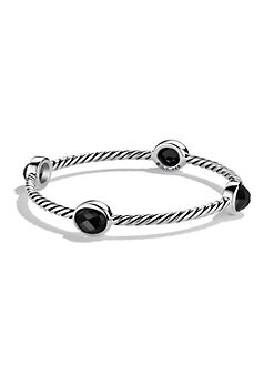David Yurman - Black Onyx & Sterling Silver Bangle Bracelet