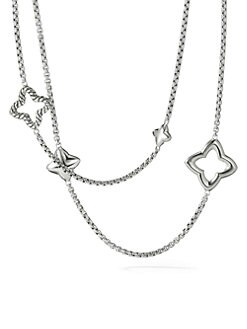 David Yurman - Sterling Silver Quatrefoil Necklace