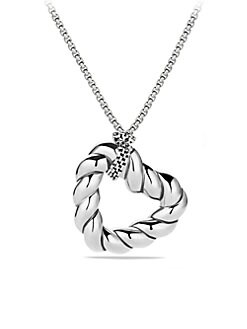 David Yurman - Sterling Silver Heart Pendant Necklace