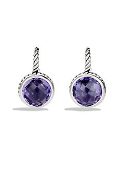 David Yurman - Amethyst & Sterling Silver Drop Earrings