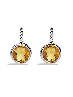 David Yurman - Citrine & Sterling Silver Drop Earrings