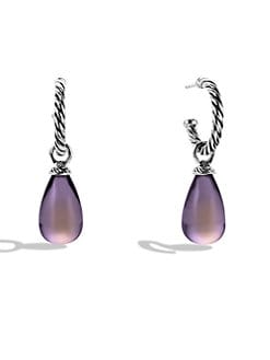 David Yurman - Lavender Moon Quartz Drop Sterling Silver Earrings