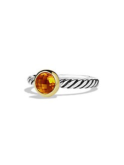 David Yurman - Citrine, 18K Gold & Sterling Silver Ring