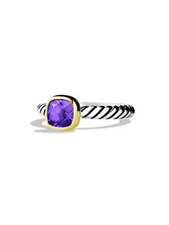David Yurman - Amethyst, 18K Gold & Sterling Silver Ring