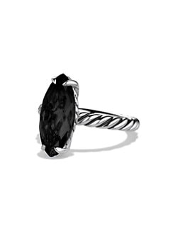 David Yurman - Black Onyx and Sterling Silver Stack Ring