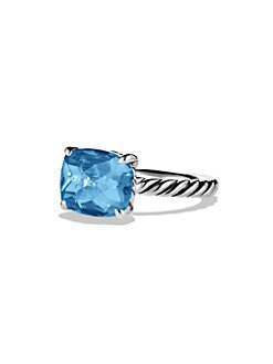 David Yurman - Blue Topaz and Sterling Silver Ring