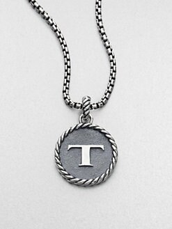 David Yurman - Sterling Silver Initial Charm/