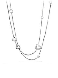 David Yurman - Sterling Silver Heart Necklace