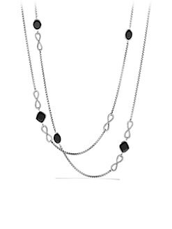 David Yurman - Black Onyx and Sterling Silver Confetti Necklace