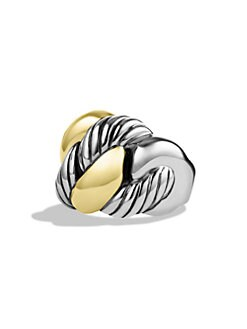 David Yurman - Sterling Silver & 18K Gold Curb Chain Ring