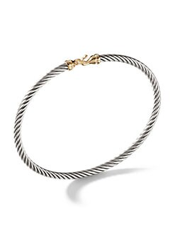 David Yurman - 18K Gold & Sterling Silver Petite Buckle Bracelet