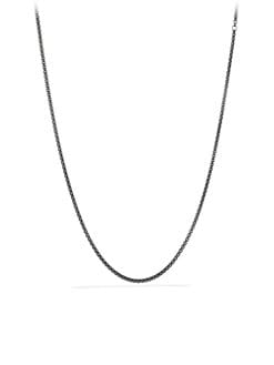 David Yurman - Long Blackened Sterling Silver Chain Necklace