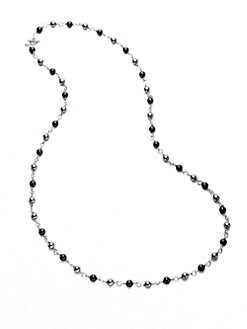 David Yurman - Black Onyx, Hematite & Sterling Silver Necklace