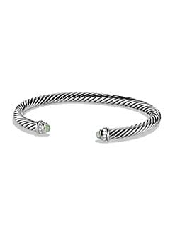 David Yurman - Diamond Prasiolite & Sterling Silver Bracelet