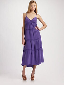 BCBGMAXAZRIA - Silk Tiered Dress