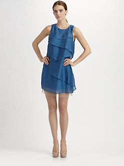 BCBGMAXAZRIA - Silk Cascade Dress