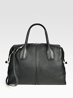 Tod's - Styling Medium Pebbled Leather Duffle Bag