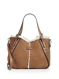 Tod's - New G Sacca Piccola Shearling Satchel