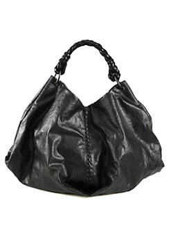 Bottega Veneta - Coated Linen Shoulder Bag