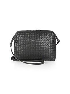보테가 베네타 Bottega Veneta Small Pillow Intrecciato Leather Crossbody Bag