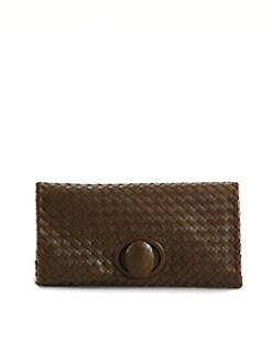 Bottega Veneta - Small Woven Leather Clutch