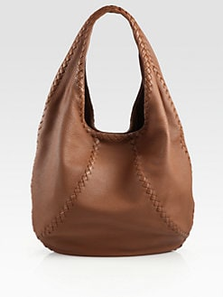Bottega Veneta - Cervo Large Leather Hobo Bag