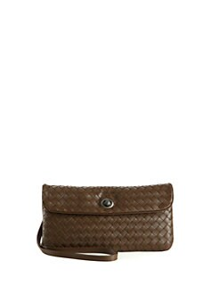 Bottega Veneta - Small Woven Leather Messenger Bag
