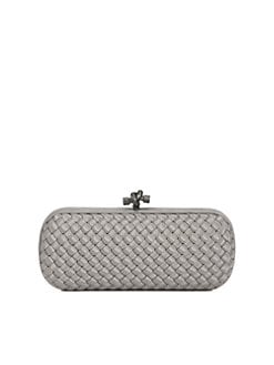 Bottega Veneta - Woven Silk Faille Clutch