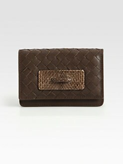 Bottega Veneta - Ayers Woven Card Case