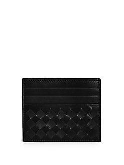 Bottega Veneta - Woven Flat Card Case