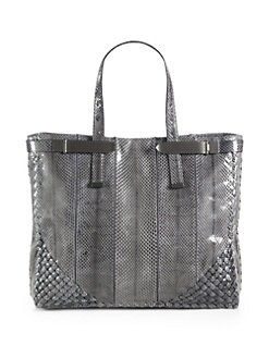 Bottega Veneta - Python Top Handle Bag