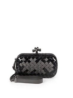 Bottega Veneta - Mini Python & Leather Knot Clutch