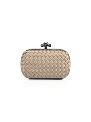 Woven Mini Knot Clutch by Bottega Veneta