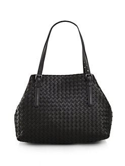 Bottega Veneta - Medium Double Handle Leather Tote